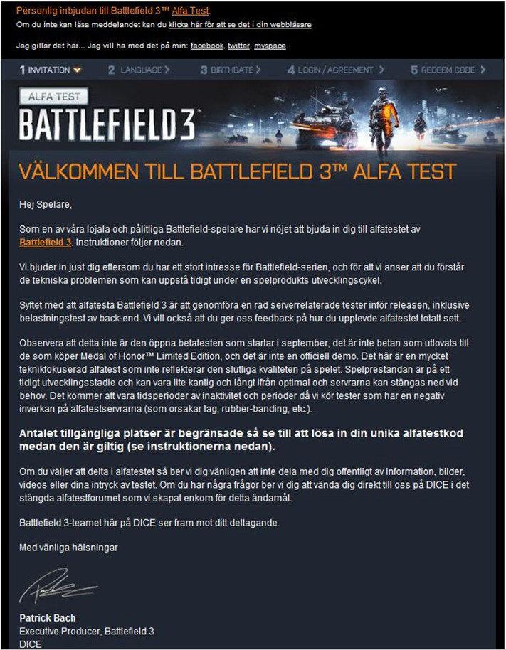 Скриншот с приглашением на Alfa trial
