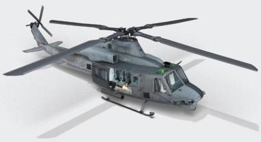 Рендер вертолета UH-1Y Venom