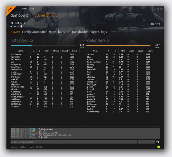 Скриншот интерфейса программы Battlefield 3 Command Center