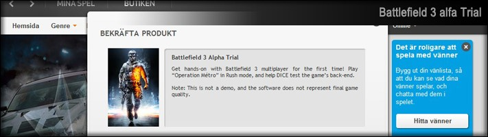 Battlefield 3 Alpha Trial